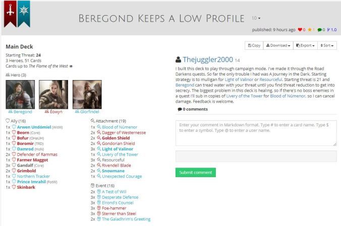 beregond keeps a low profile list.JPG