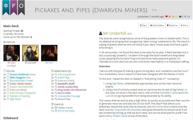 pickaxes and pipes list