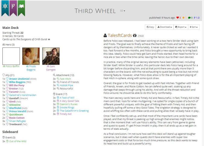 third wheel list