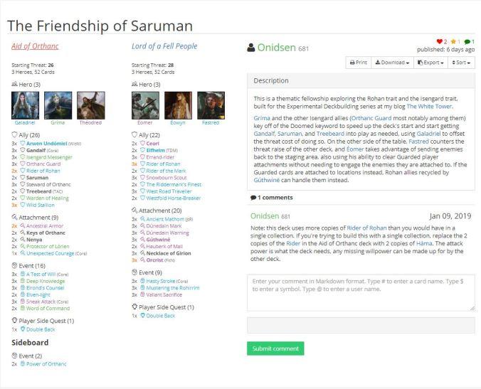 the friendship of saruman lists.JPG